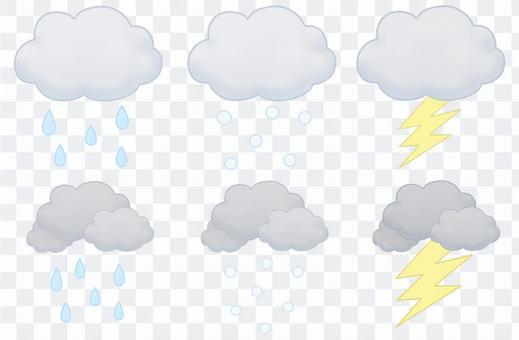 天氣雲集(雨,雪,雨夾雪)