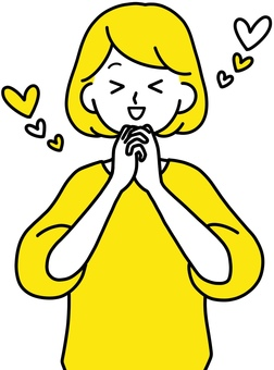 Rejoice inspiring woman clean design yellow