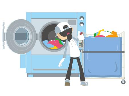 保洁公司商用洗衣機