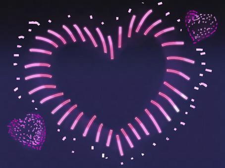 ハート型の花火