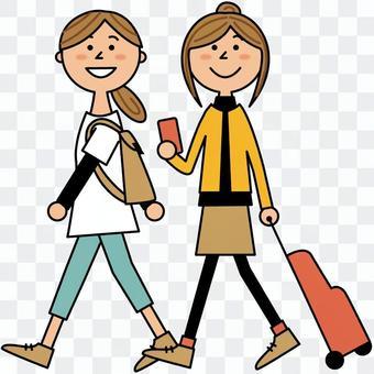女子2人旅