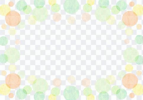 点_绿色_粉彩_框架