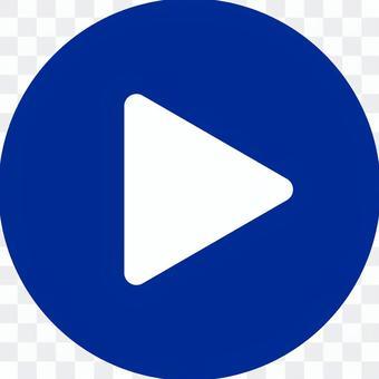 電影播放按鈕_ 03 _藍色