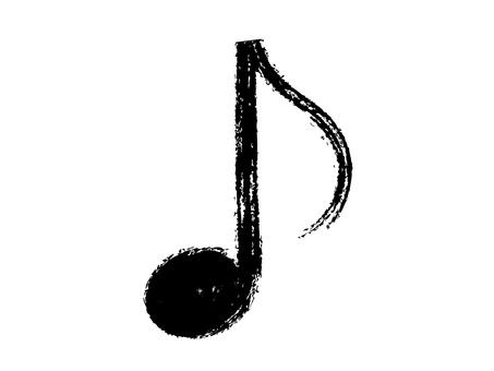 """Handwritten """"eighth note"""" black"""