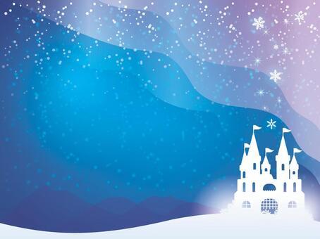 雪城堡和極光