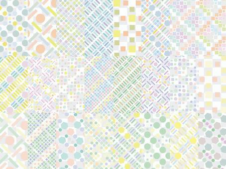 Scandinavian geometric pattern seamless pattern background spring