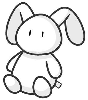 兔子毛絨玩具