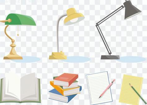 用檯燈閱讀和書寫