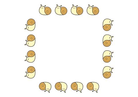 15 frames_snail,帶線條,方形