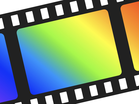 Diagonal Rainbow Gradient Film Frame: Large