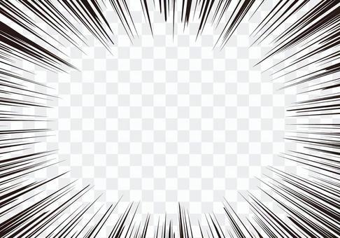 集中線/效果線(卡通)材質☆細線