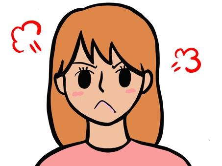 生氣的女人