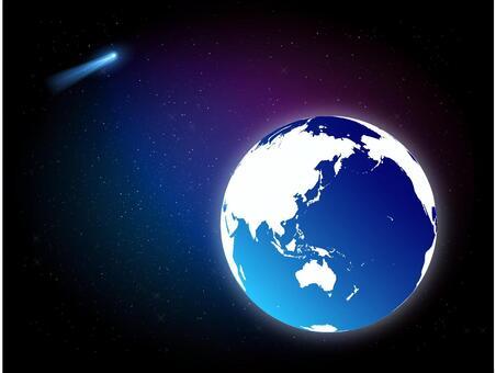 地球和彗星