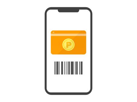 顯示點卡的智能手機