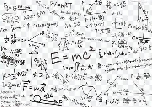 物理學公式背景