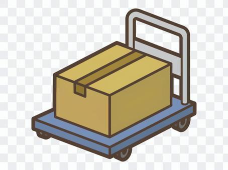 行李攜帶手推車紙箱