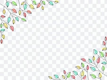 Simple leaf frame background