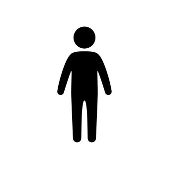 人體輪廓圖標
