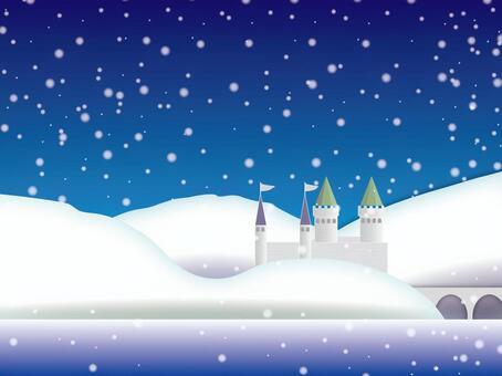 Winter castle scenery