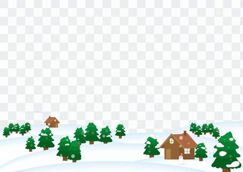 雪風景背景(中午)