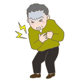 一個胸痛的男人