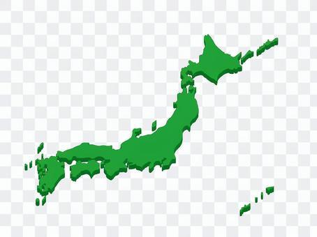 日本地图17 3D