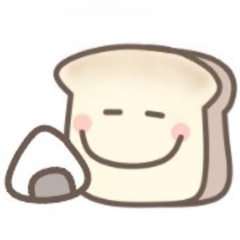 食パン おにぎり 食事 可愛い パステル