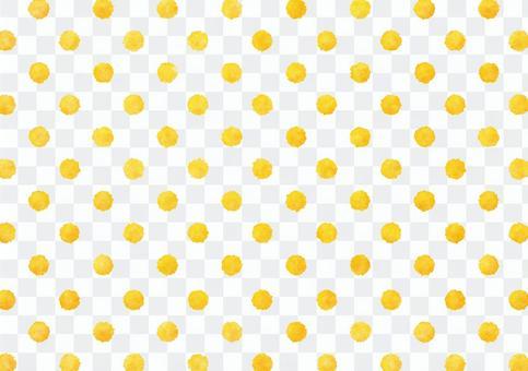 水彩點點紋理黃色