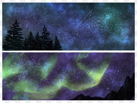 太空星空背景設置藍色