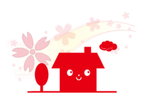 Cherry blossom dwelling (front) _ red