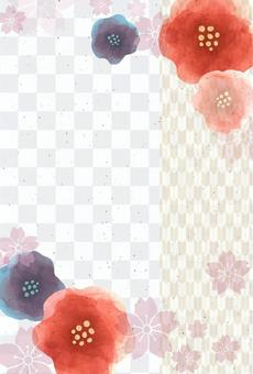 Japanese-style background material 29 (vertical)
