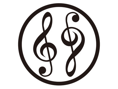 Two treble sounds in a circle