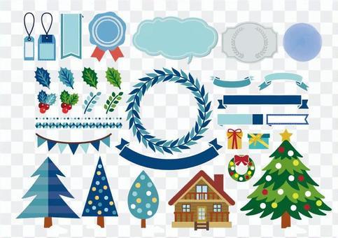 冬季/植物/聖誕節/框架