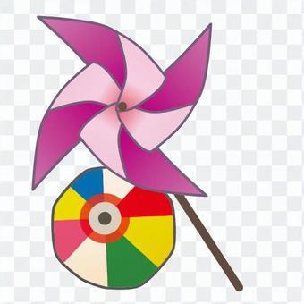 風車和紙氣球