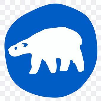 藍色圓圈和北極熊