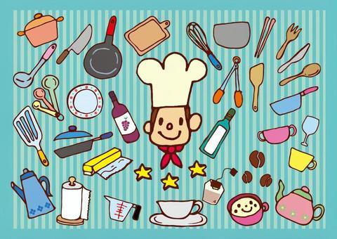 西式廚房設有廚師