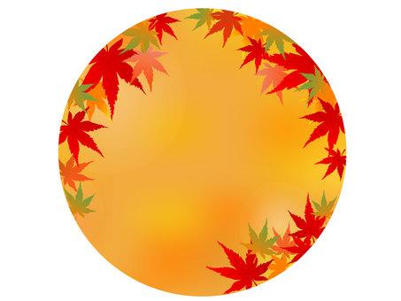 秋天的楓樹插圖