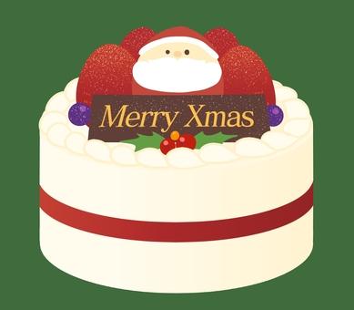 Christmas cake white