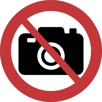 禁止拍攝圖標
