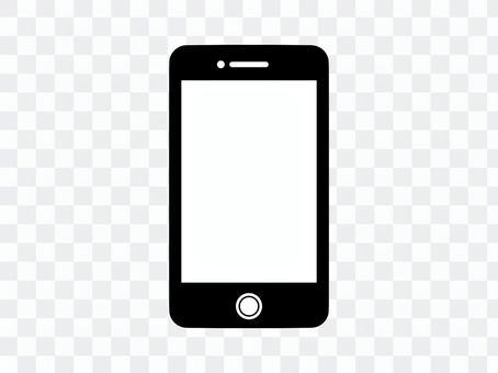 剪影智能手机移动黑色