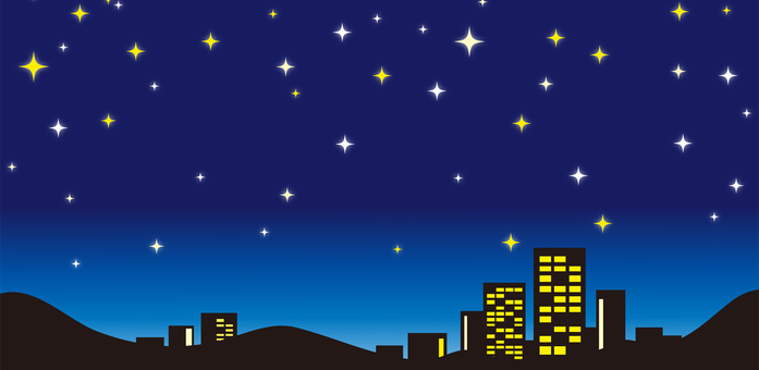 Night sky landscape material part 3