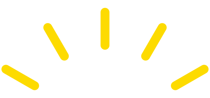Effect line Straight line 5 rounded corners Yellow