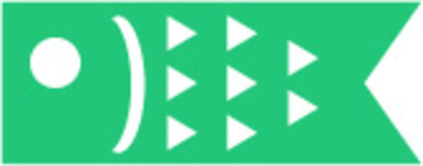 綠鯉魚飄帶