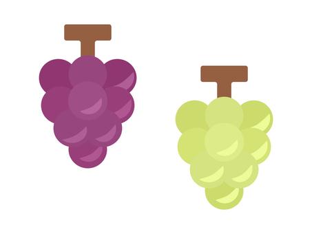 簡單可愛的葡萄插畫