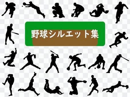 Baseball Vector Shadow Play Koshien Motion