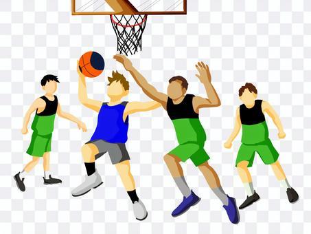 Athletes playing 3x3