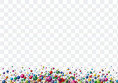 彈出的彩色彩色球框