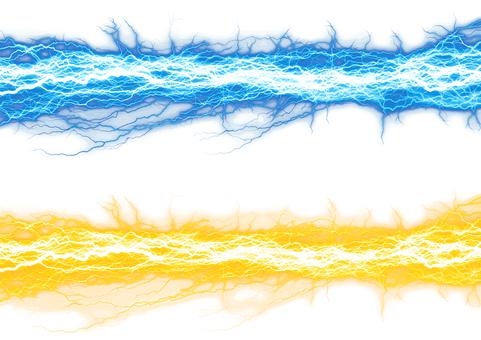 Electric shock transmission effect yellow blue set