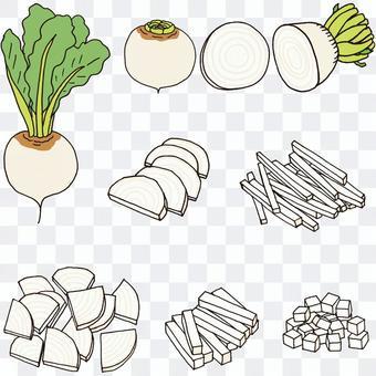 如何切白甜菜橫斷面