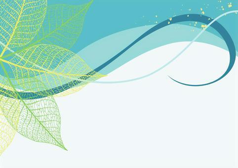 워터 마크 잎의 녹색 프레임 (줄기)